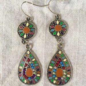 Jewelry - Beautiful Multi-colored Teardrop Earrings